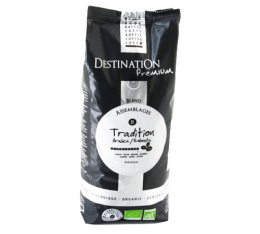 Café en grains Bio Tradition n°8 Arabica/Robusta Destination x 1 kg