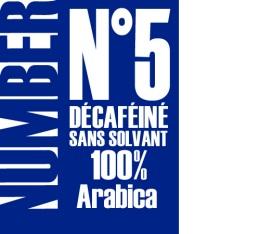 Caf� en grains D�caf�in� Number 5 - 1kg