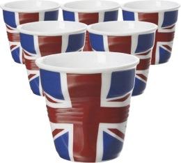 6 Tasses froiss�es Revol drapeau UK - 8 cl