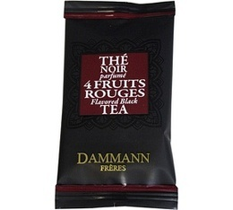 Th� 4 fruits rouges Dammann Fr�res - bo�te de 24 sachets Cristal
