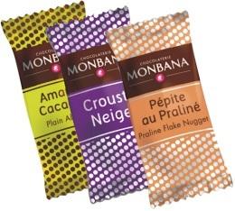 150 gourmandises chocolatées (assortiment amandes et soufflés chocolatés) - Monbana