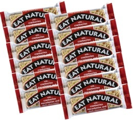 12 Barres gourmandes canneberges, noix de macadamia et chocolat - Eat Natural