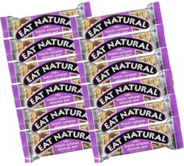 12 Barres gourmandes noix du Br�sil, raisins, amandes et noisettes - Eat Natural