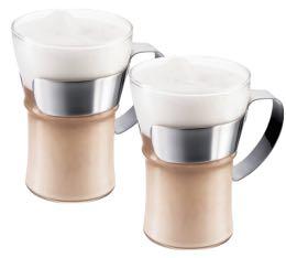 2 verres BODUM ASSAM cappuccino / thé / café 35cl (avec anse)