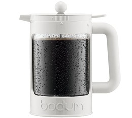 Cafeti�re � piston Bodum Bean blanche pour caf� glac� 150cl