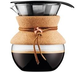 Cafetière filtre Bodum Pour Over liège et cuir - 4 tasses