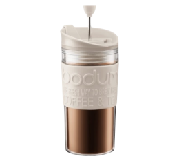 Travel Press piston Bodum blanc cr�me en plastique double paroi - 35 cl