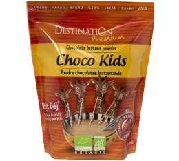 Boisson chocolat�e bio Choc Kids Petit Dej' Les Girafons - 800g - Destination