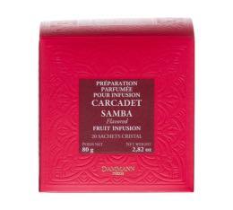 Infusion Carcadet Samba - Boîte de 25 sachets cristal - Dammann Frères