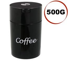 Boite conservatrice avec vide d'air Tightvac - 500gr/1.85L noire avec logo