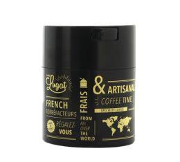 Boite conservatrice avec vide d'air Cafés Lugat - 250gr noire