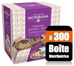 Boîte distributrice de 300 gourmandises au chocolat - Monbana