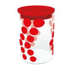 Bo�te DOT DOT Zak! Designs en verre - Rouge - 900 ml