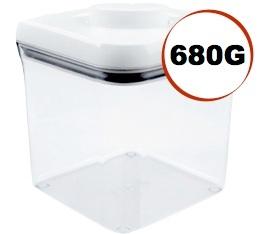 Boite � caf� avec vide d'air POP Oxo - 680g/2.3L en plastique transparent