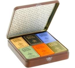 Boite m�tal 18 mini-tablettes - Caf�-Tasse