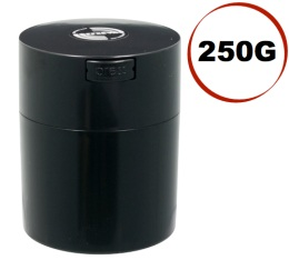 Boite conservatrice avec vide d'air Tightvac - 250gr/0.8L noire