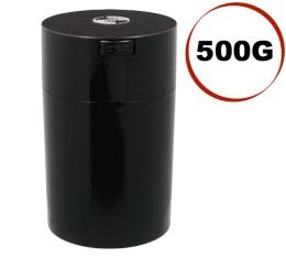 Boite conservatrice avec vide d'air Tightvac - 500gr/1.85L noire
