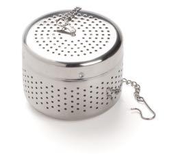 Boule à thé Dammann cylindrique en inox chromé