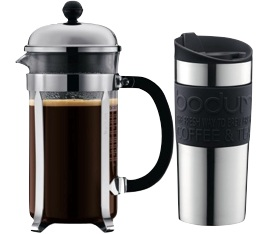 Cafeti�re � piston Bodum Chambord 1 L + Travel mug 35 cl