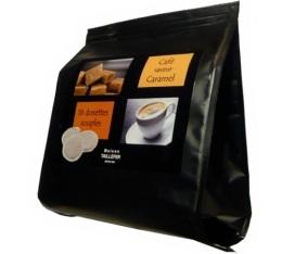 Dosettes caf� aromatis� au caramel x 16 - Maison Taillefer