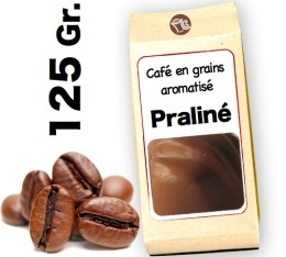 Café grain aromatisé Praliné - 125g