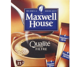 Maxwell House Qualité Filtre 25 sticks