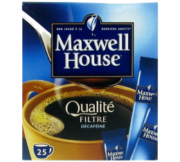 Maxwell House Qualit� Filtre D�caf�in� 25 sticks