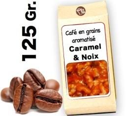 Caf� grain aromatis�   Caramel  et Noix - 125g