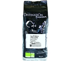 Caf� en grains Bio Exception n�16 100% Arabica Destination x 1 kg