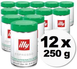 Caf� en grains Illy d�caf�in� - 12x250gr
