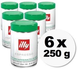 Caf� en grains Illy d�caf�in� - 6x250gr