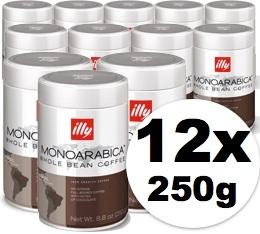 Café en grains Illy Monoarabica Brazil - 12x250 gr