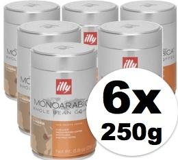 Caf� en grains Illy Monoarabica Ethiopie - 6x250 gr