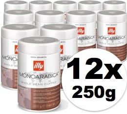 Caf� en grains Illy Monoarabica Guatemala - 12x250 gr