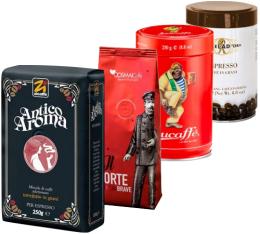 Pack Italien Arabica/Robusta (Exclusivité MaxiCoffee) : 4 cafés en grains x 250g