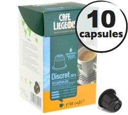 Capsules Discret Décaféiné x10 Café Liégeois compatibles Nespresso