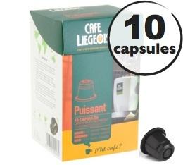 Capsules Puissant x10 Caf� Li�geois compatibles Nespresso
