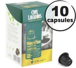 Capsules Magnifico x10 Caf� Li�geois compatibles Nespresso