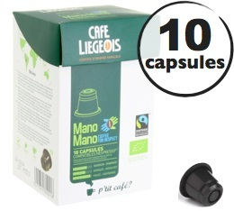 Capsules Mano Mano Bio x10 Caf� Li�geois compatibles Nespresso