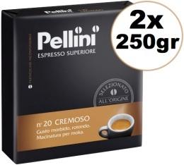 Café moulu Pellini Espresso Superieur N°20 Cremoso 2x250g