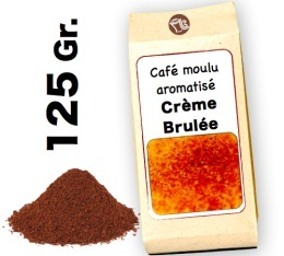 Café moulu aromatisé  Crème Brulée - 125g