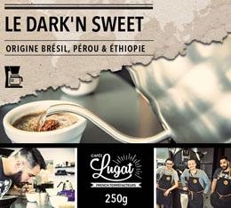 Caf� moulu pour cafeti�re filtre : Le Dark'n Sweet (M�lange Gourmand) - 250g - Caf�s Lugat