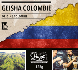 Caf� moulu pour cafeti�re filtre : Colombie - Geisha - Torr�faction Filtre - 125g - Caf�s Lugat