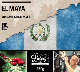 Café moulu pour cafetière filtre : Guatemala - El Maya - 250g - Cafés Lugat