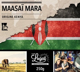 Café moulu pour cafetière filtre : Kenya - Maasaï Mara - Torréfaction Filtre - 250g - Cafés Lugat