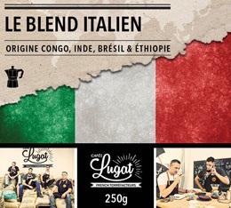 Café moulu pour cafetière italienne : Le Blend Italien (Mélange Italien) - 250g - Cafés Lugat