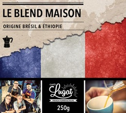 Caf� moulu pour cafeti�re italienne : Le Blend Maison (M�lange Maison) - 250g - Caf�s Lugat