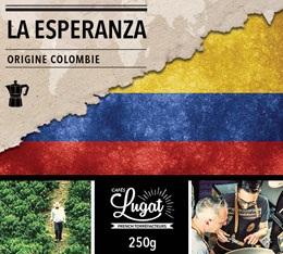 Café moulu bio pour cafetière italienne : Colombie - La Esperanza - 250g - Cafés Lugat
