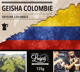 Café moulu pour cafetière italienne : Colombie - Geisha - 125g - Cafés Lugat