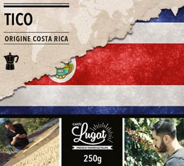 Caf� moulu pour cafeti�re italienne : Costa Rica - Tico - 250g - Caf�s Lugat